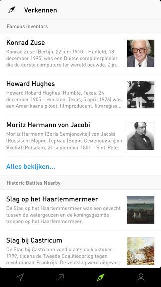 Artikelen verkennen met Curiosity voor de iPhone.