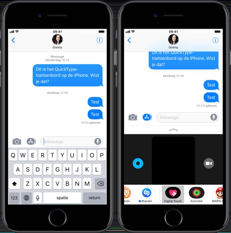 Digital Touch gebruiken op de iPhone.