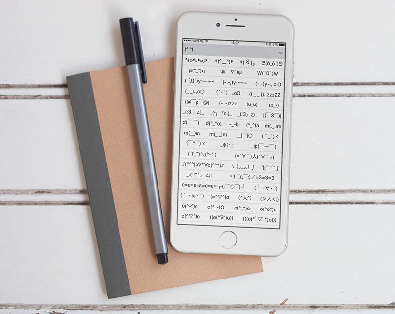 Kana-toetsenbord op de iPhone