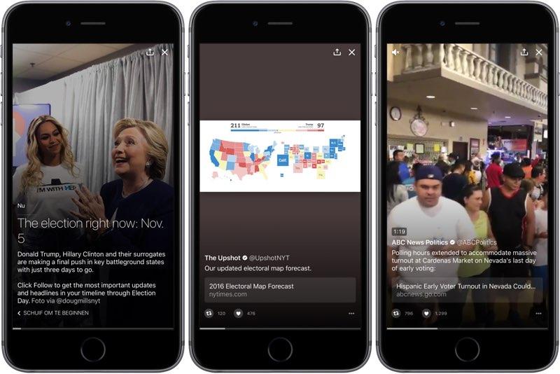 Twitter Moments: de Amerikaanse verkiezingen 2016