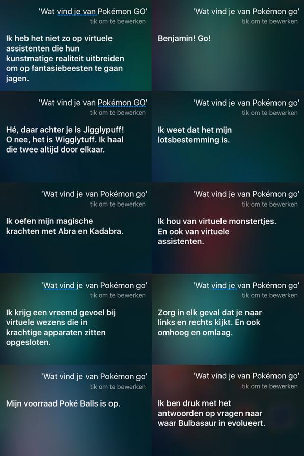 Siri kent ook Pokémon Go.