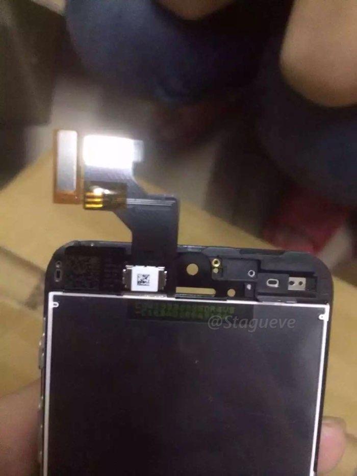 iPhone SE gelekte foto van scherm
