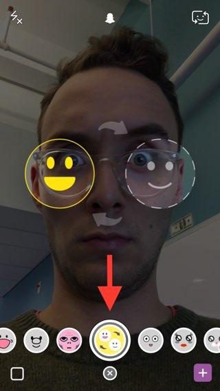 Snapchat Face Swap-filter op de IPhone