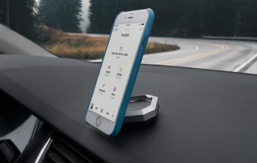 Bluejay voor je iPhone bevestigt je toestel in de auto.