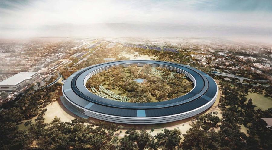 Zo moet de Apple Campus 2 er uit komen te zien.
