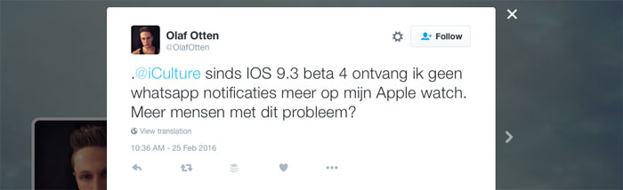 Geen notificaties meer iOS 9.3 beta 4