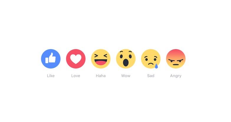 Facebook Reactions.
