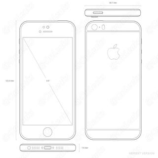 Nieuwe iPhone 5se-tekeningen