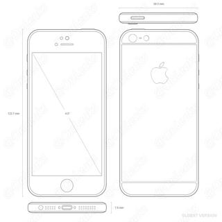 Oude iPhone 5se-tekeningen