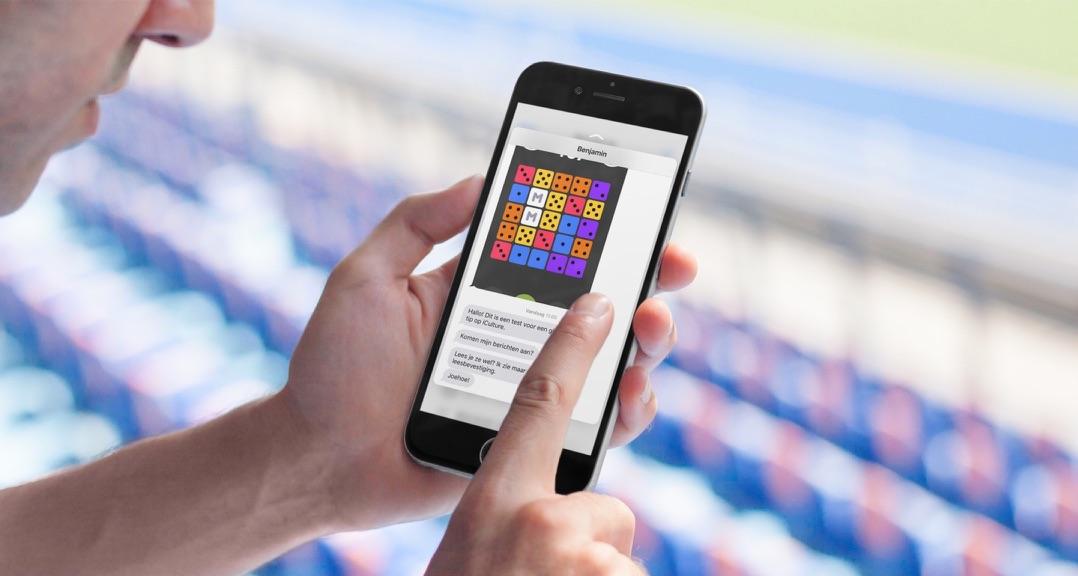 3D Touch in een iMessage gesprek op een iPhone 6s.