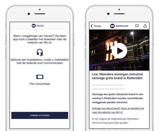 NULive beelden streamen voor iPhone