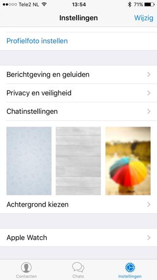 Standaardantwoorden instellen via de Telegram-app.