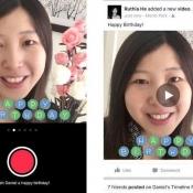 Verjaardagsvideo's opnemen in de Facebook-app.