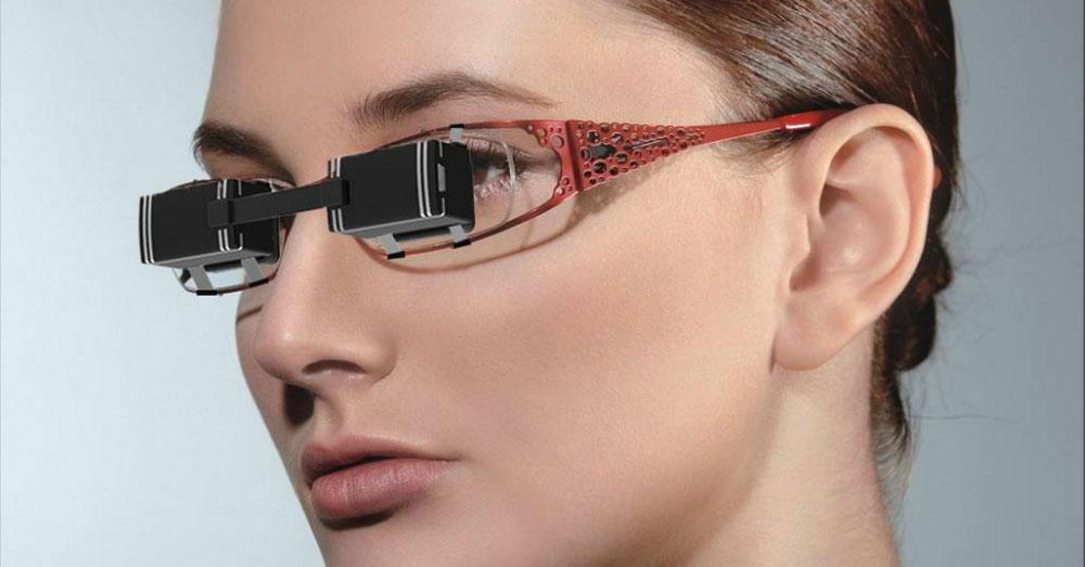 Bril met schermpje