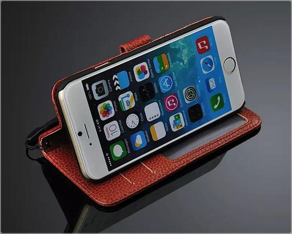 Leren iPhone-case op 1DayFly.