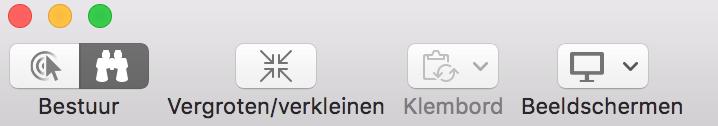 Knoppenbalk in schermdeling via de Berichten-app op de Mac.