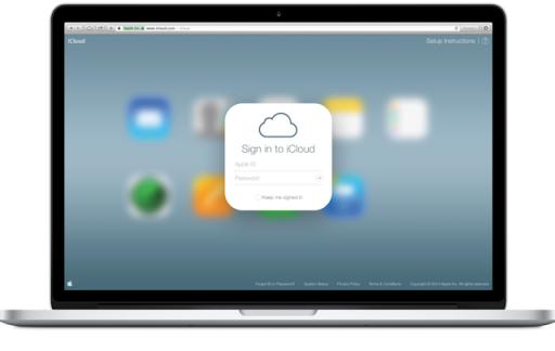 iCloud op een MacBook