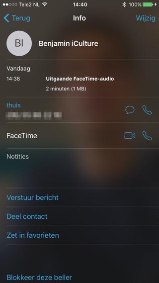 Je kunt het dataverbruik zowel van audio als videogesprekken controleren.