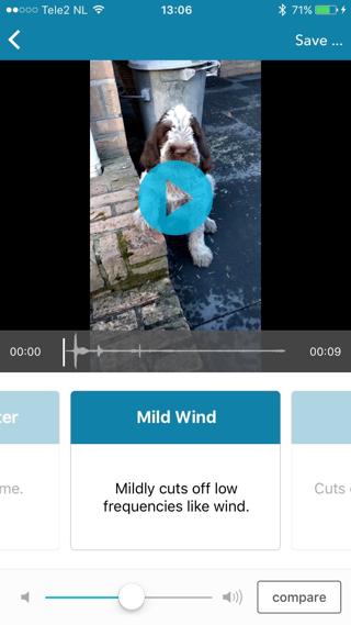 Video's met weinig geluid hebben uiteraard weinig baat bij Audio Fix.