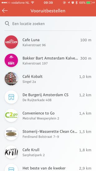 Vooruitbestellen in aangesloten winkels met de PayPal-app.