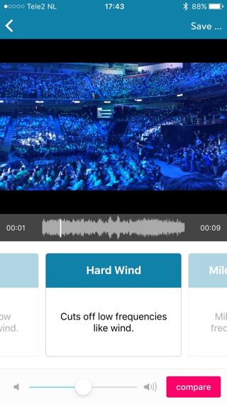Rumoerige video's doen het goed met de Hard Wind-filter.