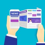 Nieuws: steeds vaker in sociale apps, afbeelding via Shutterstock (shutterstock_247526794).
