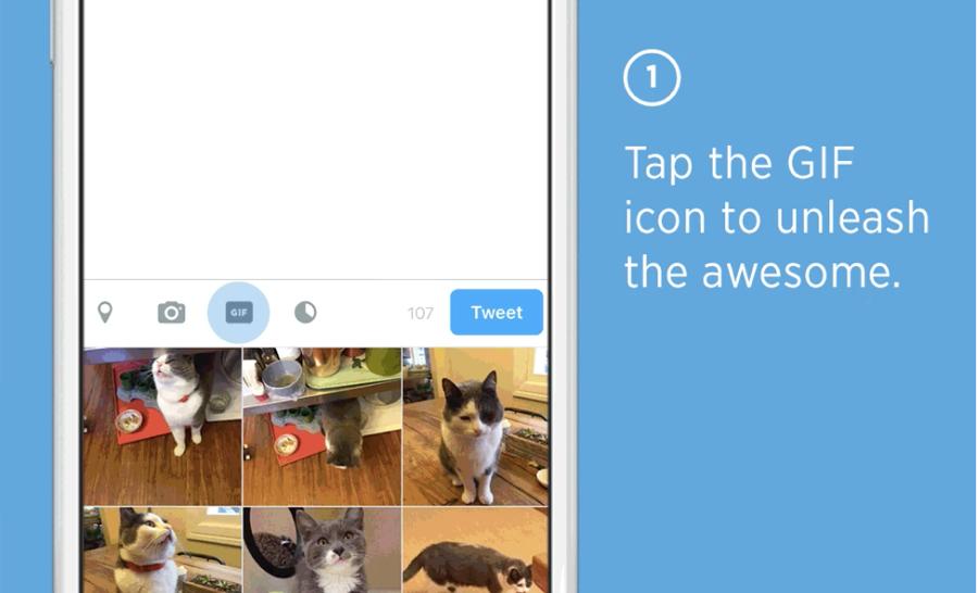 Twitter krijgt een speciale GIF-knop.