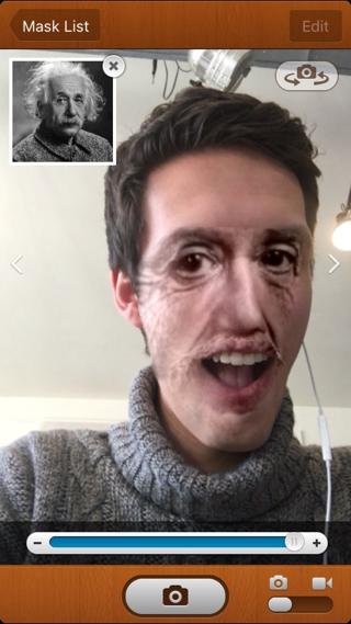 Face Stealer laat in real time zien hoe je er als Albert Einstein uitziet.