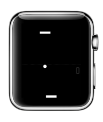 A Tiny Game of Pong op de Apple Watch.
