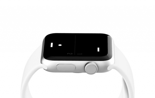 A Tiny Game of Pong speel je op de Apple Watch met de Digital Crown.