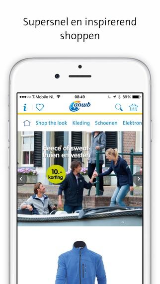 ANWB Webwinkel-app voor de iPhone.