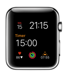 HeartWatch op de Apple Watch met complicatie.