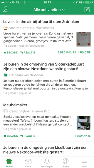 Nextdoor reclame-spam