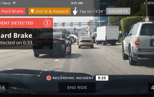 Nexar dash cam-app iPhone