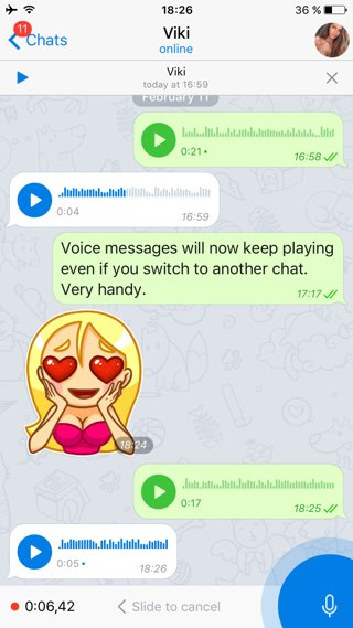 Telegram: audioberichten