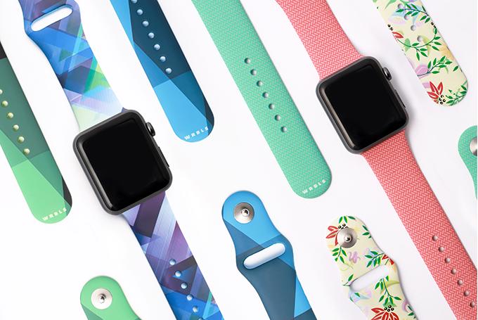 WRBLS siliconen bandjes voor de Apple Watch.