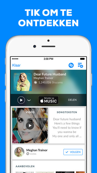 Shazam Encore is Shazam zonder advertenties.