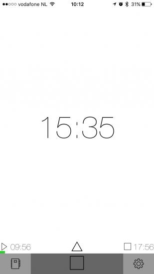 GetOffWork toont in één oogopslag hoe lang je al aan het werk bent.