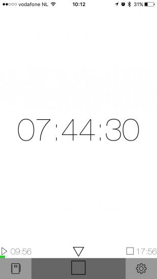 GetOffWork laat zien hoe lang je werkdag nog duurt.