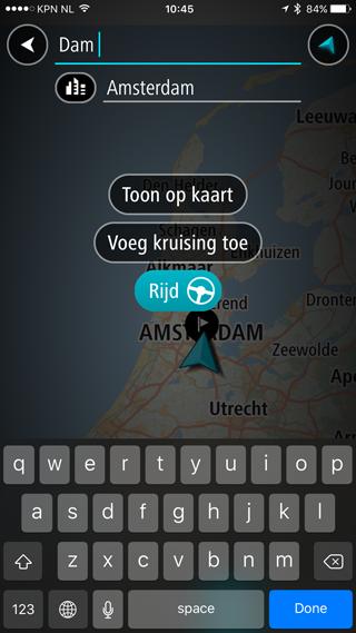 TomTom GO Mobile: bestemming invoeren in de app