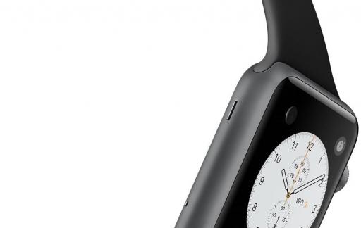 De microfoon van de Apple Watch.