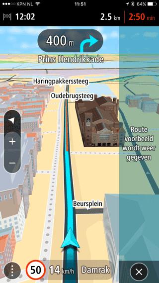 TomTom GO Mobile: 3D-navigatie.