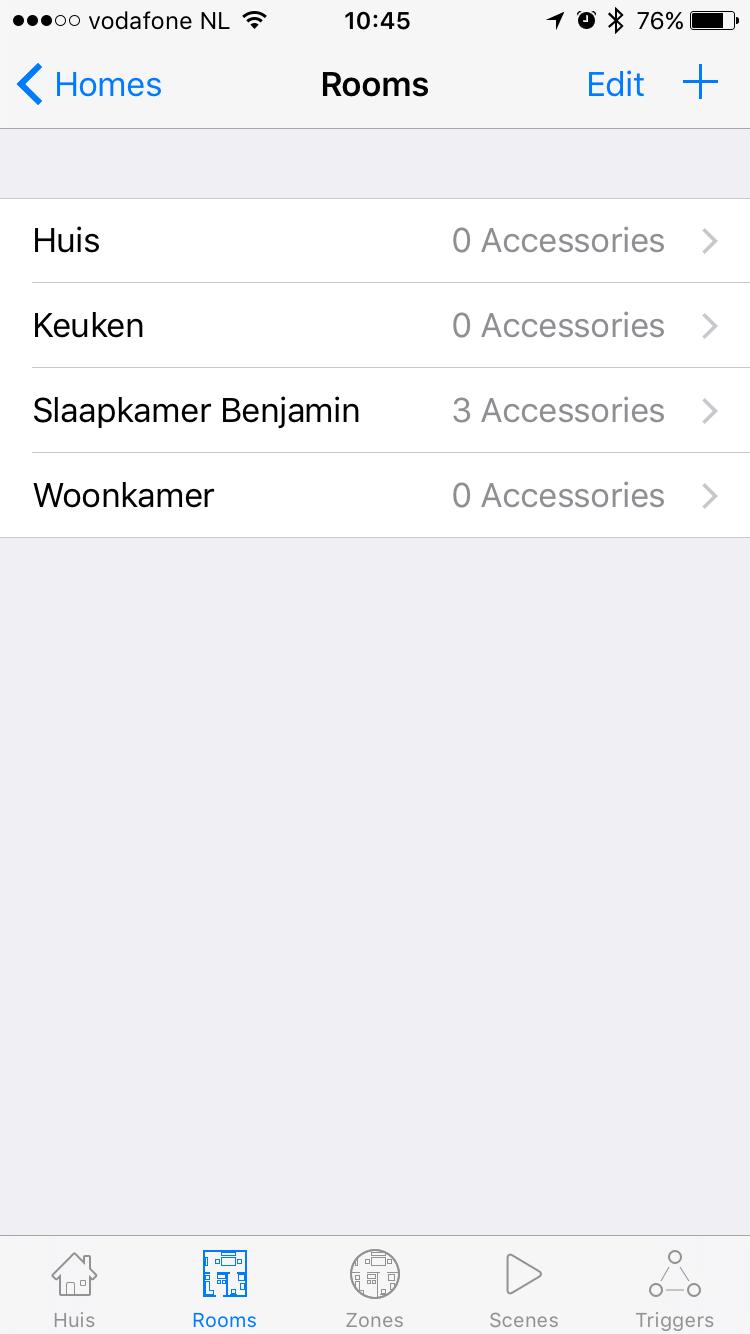 HomeKit handleiding: Home voor HomeKit met kamerindeling.