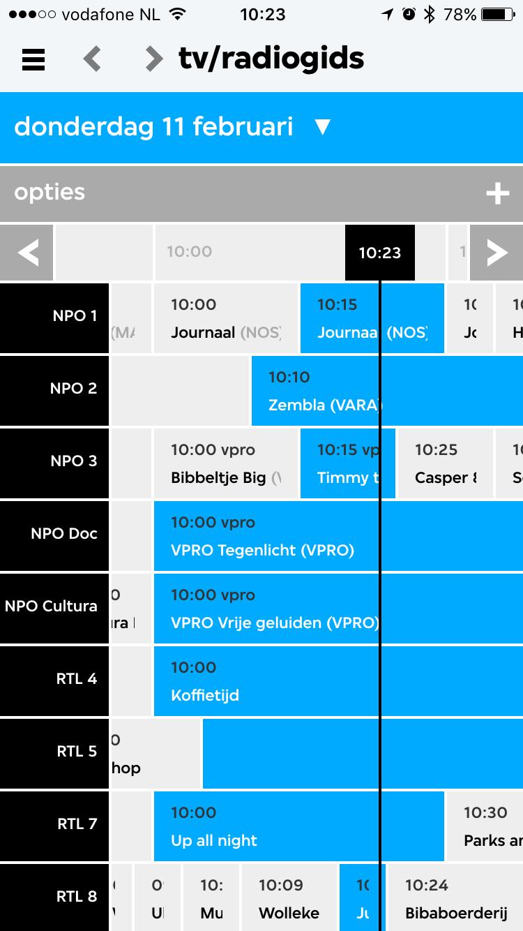 Tv-gids in VPRO Koos.