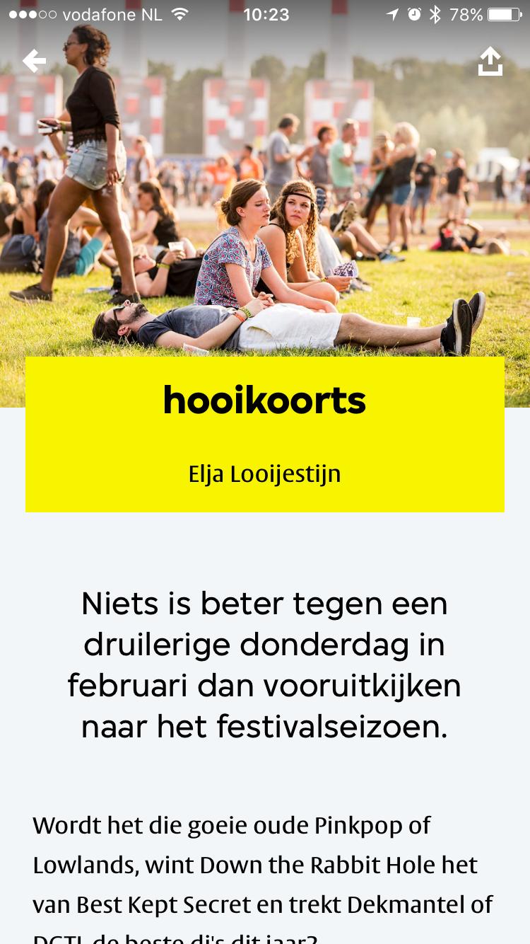 VPRO Koos-tip over festivals.