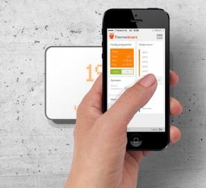 ThermoSmart met iPhone-app.