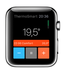 Thermosmart-app voor Apple Watch laat je de temperatuur aflezen.