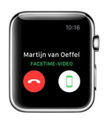 Een FaceTime-gesprek opnemen op je Apple Watch.