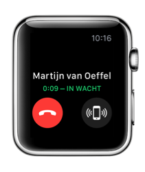 FaceTime-beller in de wacht gezet met de Apple Watch.