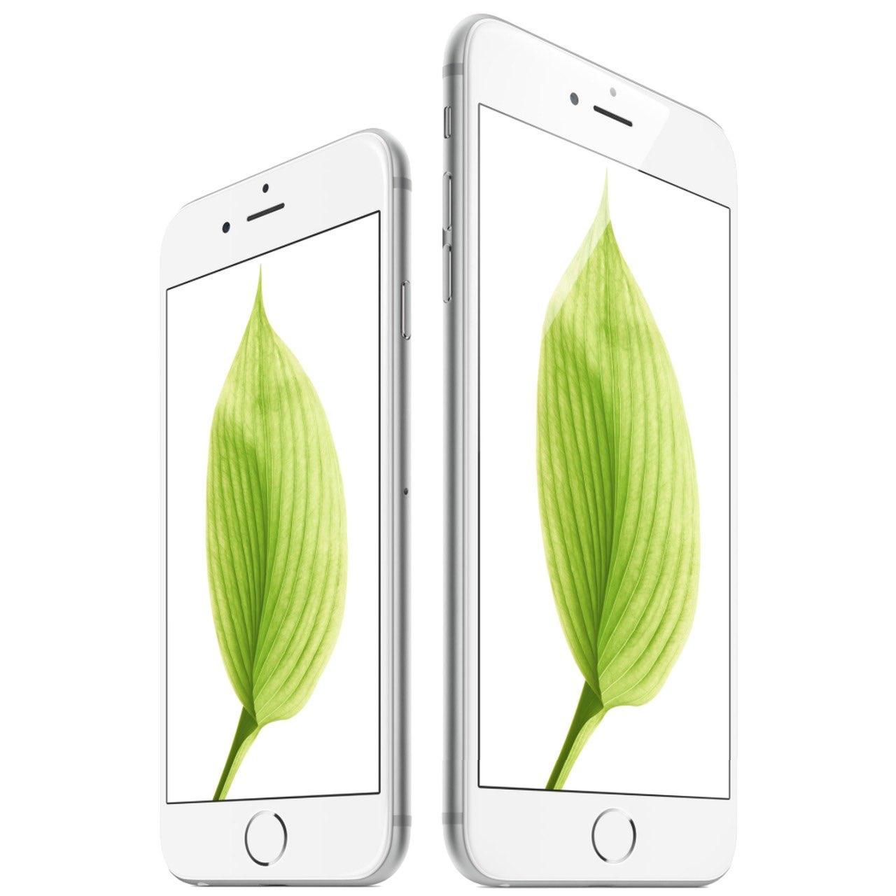 iPhone 6s en iPhone 6s Plus met groen blaadje